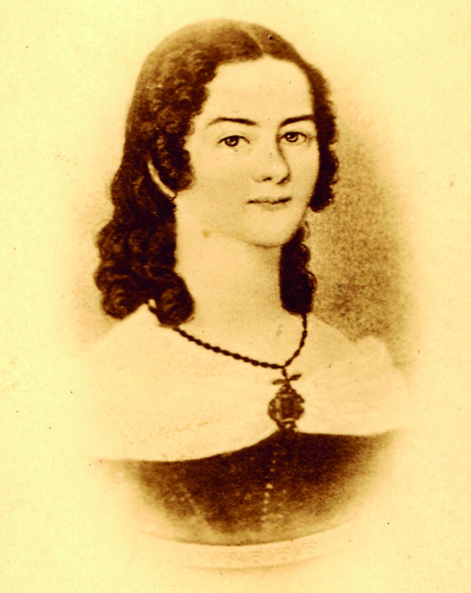Portät von Kathinka Zitz-Halein im Alter von 19 Jahren